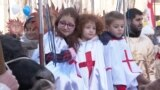 Orthodox Christians Celebrate Christmas In Georgia vidoe grab