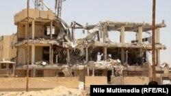مبنى سنترال 6اكتوبر بعد تفجيره