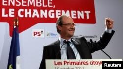 Победитель первого тура выборов президента Франции, социалист Франсуа Олланд