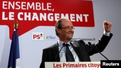 Francois Hollande won the Socialist Party's presidential primary election.