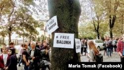 Акция солидарности с политузниками во Львове, 20 сентября 2017 год