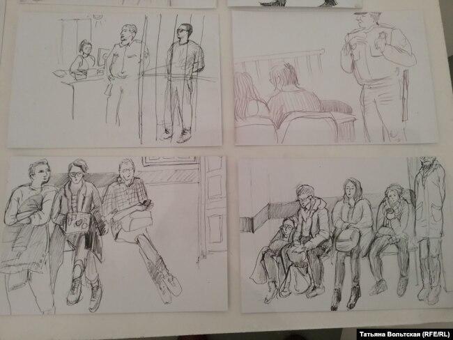 Зарисовки из зала суда
