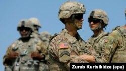 Американские военные на учениях Noble Partner-2017 в Грузии, 9 августа 2017 года
