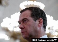 Дмитрий Медведев на церемонии в Кремле