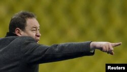Тренер российской сборной Леонид Слуцкий.
