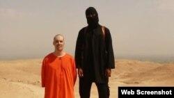 Suriya - 'Islam dövləti' yaraqlısının amerikalı James Wright Foley-ni edam etdiyi videodan kadr. 19 avqust 2014