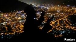Мусульманскі пілігрым моліцца