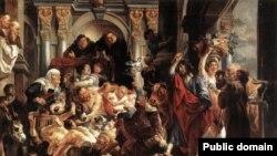 Иисус Христос, изгоняющий торговцев из храма (Якоб Йорданс, 1593-1678)