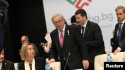 Жан-Клод Юнкер во время церемонии начала председательства Болгарии в ЕС, София, 12 января 2018 года