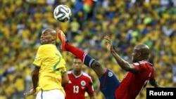 Фрагмент матча Бразилия - Колумбия