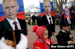 Демонстрация в Севастополе, 23 февраля 2016