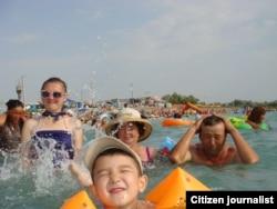 Фотография «Отдых на озере Алаколь» Аймангуль Казангаповой.