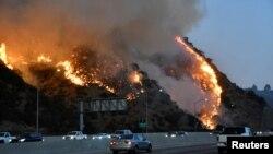 Požar u blizini Getty centra sjeverno od Los Angelesa