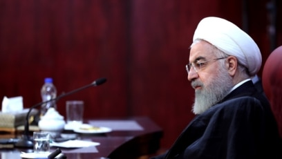Iranski predsjednik Hasan Rohani tokom reakcije na američke sankcije, 5. novembar 2018.
