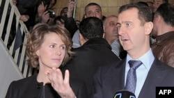 Сирия президенті Башар әл-Асад пен оның зайыбы Асма. Дамаск, 26 ақпан 2012 жыл. (Көрнекі сурет)