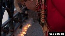 """В Петербурге акция """"1418 свечей за каждый день войны"""", 22 июня 2015 года"""