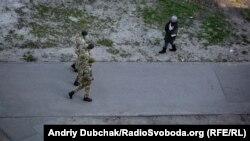 Військова поліція патрулює вулиці Києва, 24 березня 2020 року