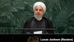 Iranian President Hassan Rouhani addresses the 74th session of the United Nations General Assembly at U.N. headquarters in New York City, New York, U.S., September 25, 2019.