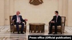 Алхас Квициния и Башар Асад