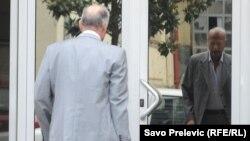 Milorad Ivanović ulazi u sud, 9. septembar 2012.