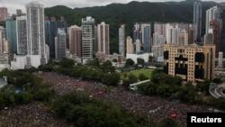 Акция протеста в Гонконге.