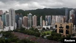 Протестиращите се събраха в парка Виктория в Хонконг