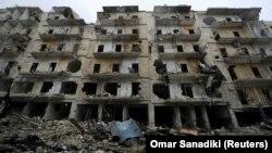 Зруйновані будівлі Алеппо, 13 грудня 2016 року