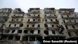 Разрушенное здание в Алеппо. 3 декабря 2016 года.