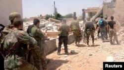 Սիրիայի կառավարական զորքերի զինծառայողները Հալեպի նահանգում, արխիվ