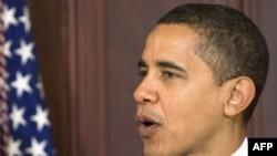 АКШ -- Президент Барак Обама өзүнүн биринчи бюджети тууралуу конгрессте сүйлөп жатат.26-февраль 2009-жыл.