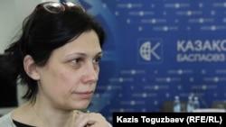 Татьяна Чернобиль, правозащитник. Алматы, 3 марта 2016 года.