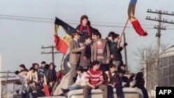 На вуліцах Бухарэсту, 1989 год