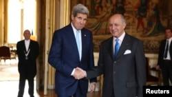 جان کری و لوران فابیوس، وزرای امور خارجه آمریکا و فرانسه