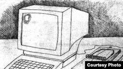 Карикатура иллюстратора Шерифа, отражающая риск онлайн-журналистики