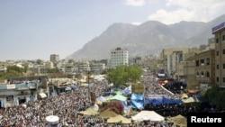 Йәмәннең Таиз шәһәрендә президентка каршы җыен