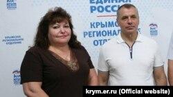 Ирина Черненко и спикер подконтрольного России парламента Крыма Владимир Константинов