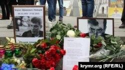 Акция памяти Бориса Немцова в Киеве.