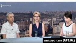 Գագիկ Մինասյանը և Մանե Թանդիլյանը «Ազատության» տաղավարում, 2-ը սեպտեմբերի, 2017 թ․