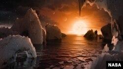 Экзопланеталарда мөмкин булган күренеш, NASA рәсеме