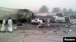 Бомба орнатылған автокөлікте жарылыс болған жер. Даяла провинциясы, Ирак, 10 маусым 2013 жыл. Көрнекі сурет.