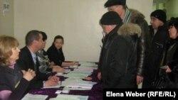 Избирательный участок, город Темиртау, Карагандинская область, 15 января 2012 года.