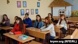 Першокурсники українського відділення Таврійської академії Кримського федерального університету, Сімферополь, 11 жовтня 2017 року
