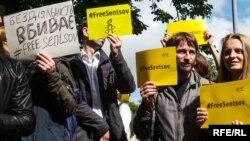 Фоторепортаж: у Києві пройшла акція на підтримку Олега Сенцова «Досить сидіти!»