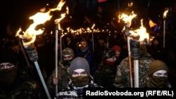 У Києві, Дніпрі і Херсоні провели марші з нагоди дня народження Бандери