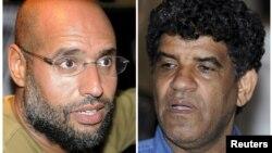 Саиф аль-Ислам — сын убитого ливийского лидера Муаммара Каддафи (слева), Абдулла аль-Сенсусси — бывший глава разведывательной службы Ливии.