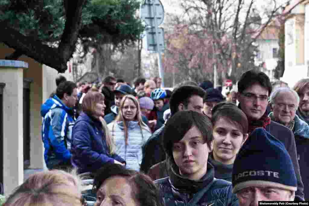 Выборы президента РФ вЦентре культуры и науки при посольстве России в Чехии.