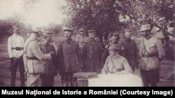 Înregistrarea prizonierilor germani la Mărășești, vara 1917