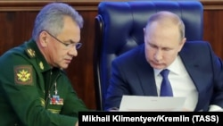 Сергей Шойгу и Владимир Путин, 2018 год