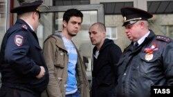 Артем Лоскутов во время задержания 1 мая, 2016