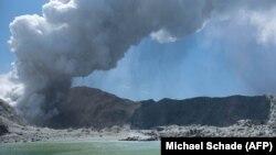 Выбух вулькана на Белым востраве, Новая Зэляндыя, 9 сьнежня 2019